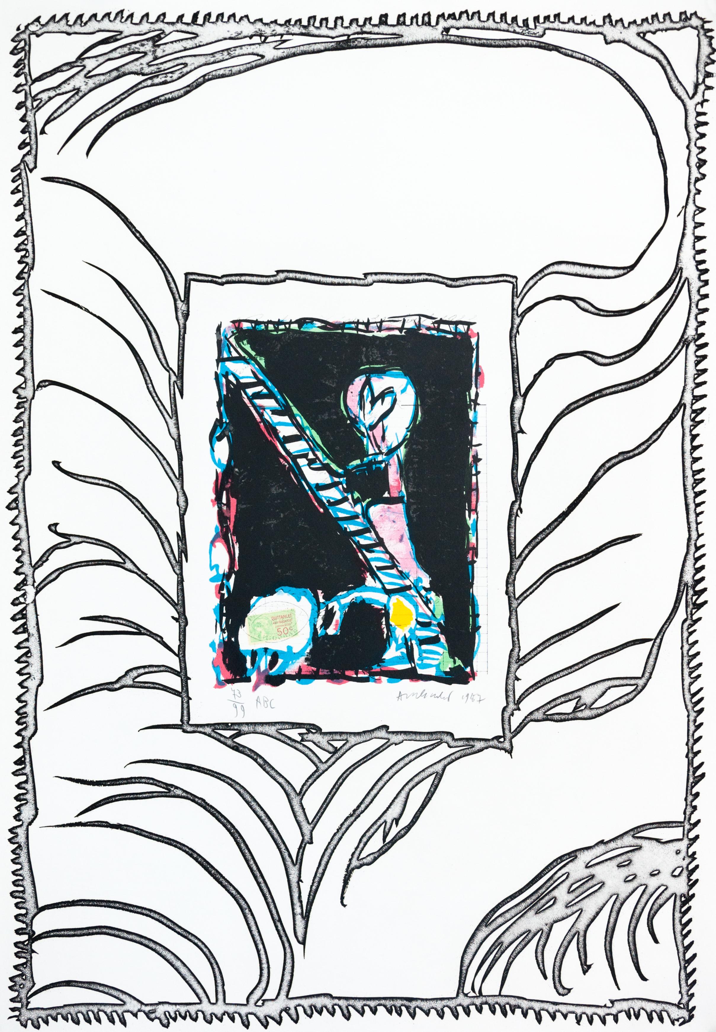 Pierre alechinsky galerie pome turbil for Alechinsky oeuvres