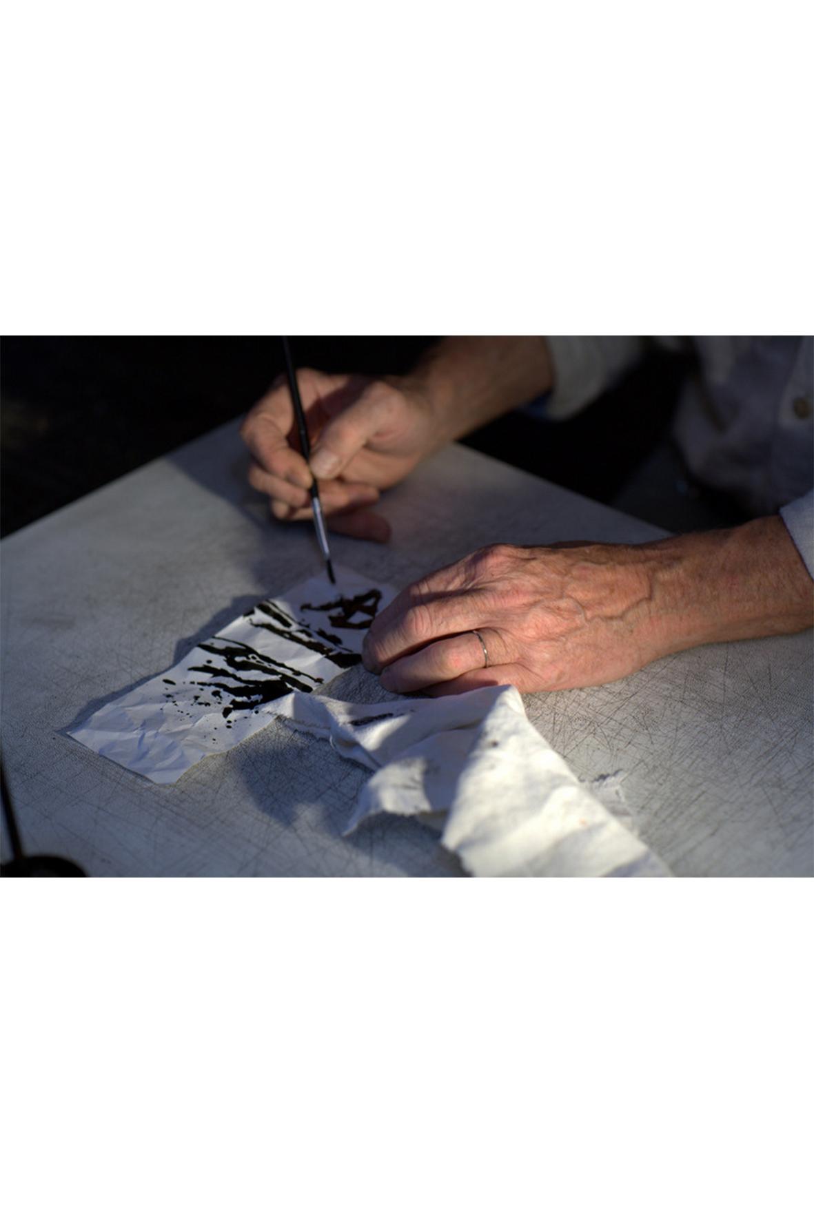 marcel robelin au travail, galerie d'art lyon, art contemporain lyon, galerie Lyon