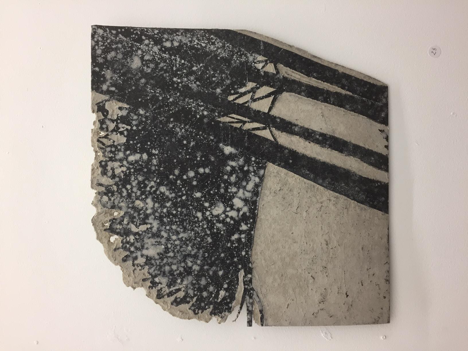 papier kraft et cendresgalerie d'art lyon, art contemporain lyon, galerie Lyon